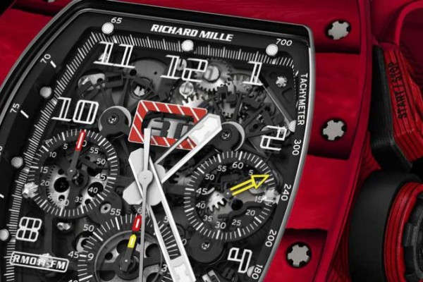 Red TPT Richard Mille RM 011 Felipe Massa Chronogrpah Quartz Replica Watch