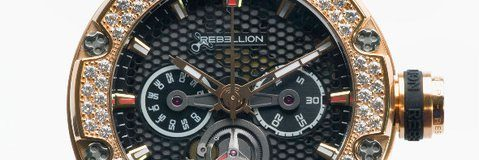 Rebellion Predator Iced Chronograph Monopusher watch