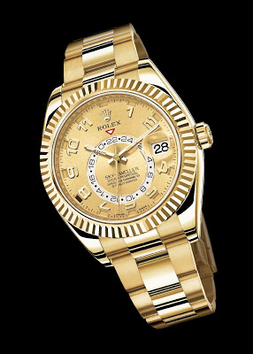 Yellow Gold Rolex Oyster Perpetual SKY-DWELLER watch replica