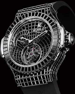 Black Ceramic Hublot Big Bang Caviar Tourbillon Replica