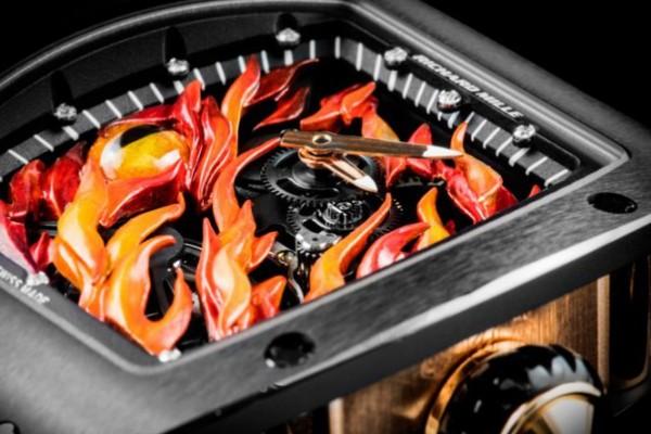 Promotion: Black PVD Richard Mille Tourbillon RM 26-02 Evil Eye Replica Watch in Cheap Price