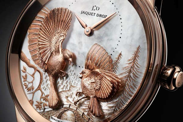 Rose Gold Replica Jaquet Droz Petite Heure Minute Relief Season Automatic Watch