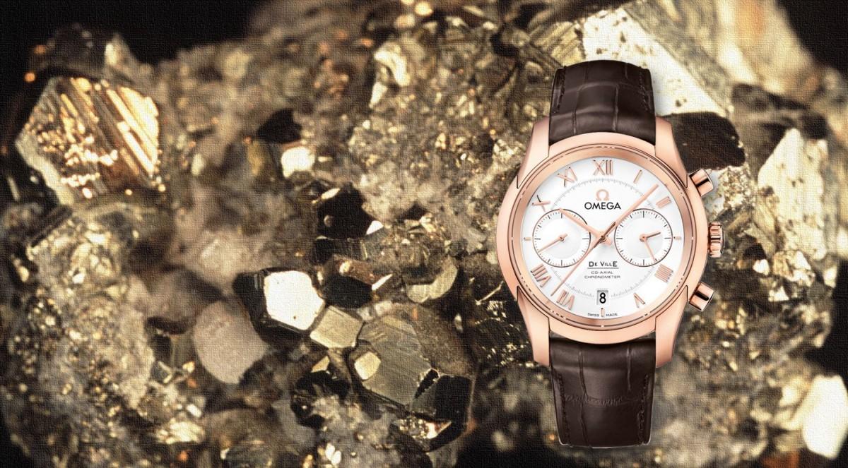 Discount Replica Omega De Ville Co-Axial Chronometer Rose Gold Sallywatch