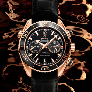 Omega Seamaster Planet Ocean Ceragold watch replica